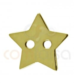 Sterling silver 925ml double drilled star 12x13 mm