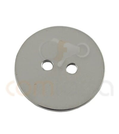 Gold plated Sterling silver 925ml double drilled circle 13 mm