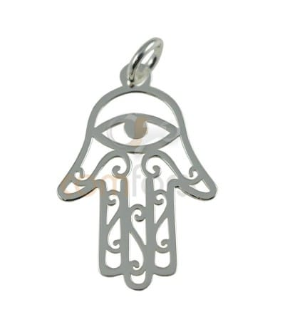 Gold plated Sterling silver 925 ml Hamsa link 22x14 mm