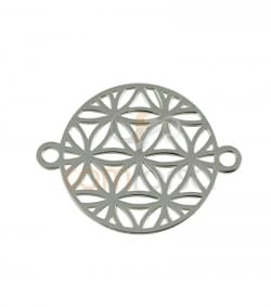 Gold plated Sterling silver 925 ml Seed of life Mndala 15 mm