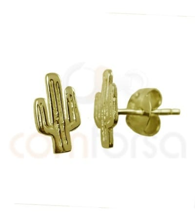 Sterling silver 925 cactus earrings 5 x 9