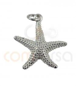 Colgante estrella de mar 20 mm plata chapada en oro