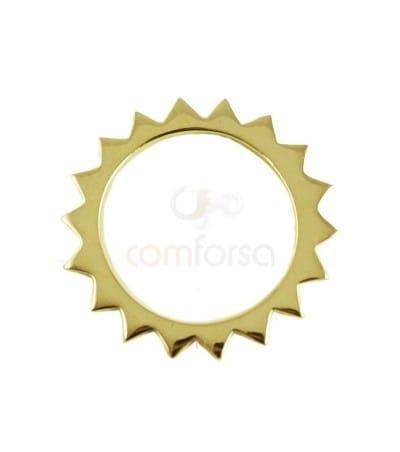 Sterling silver 925  Sun pendant 18 mm