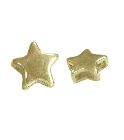Entrepieza pasada estrella 7 x 7mm plata 925ml