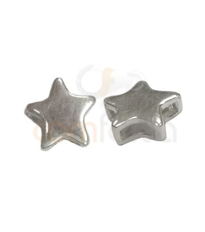 Gold plated Sterling silver star link  7 mm (1.2 mm)