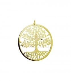 Sterling silver 925 life tree pendant 34 mm