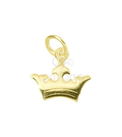 Sterling silver 925 crown charm 12x11 mm