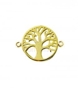 Sterling silver 925 life tree connector 17 mm