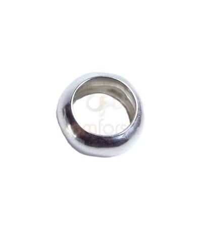 Anilla bola 5 mm (3.2 int) plata chapada en oro