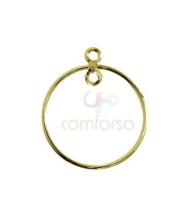 Anilla hilo circular con doble anilla 25mm plata 925ml