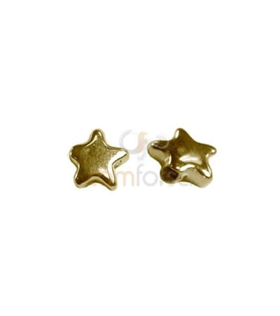 Sterling silver 925 Star spacer 8.8 x 8.5 mm