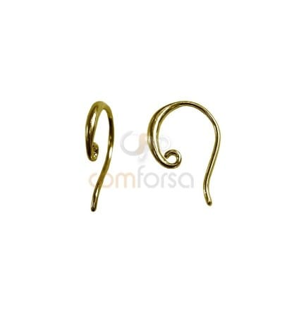 Sterling Silver 925 Hook Earring 10.8 x 15 mm