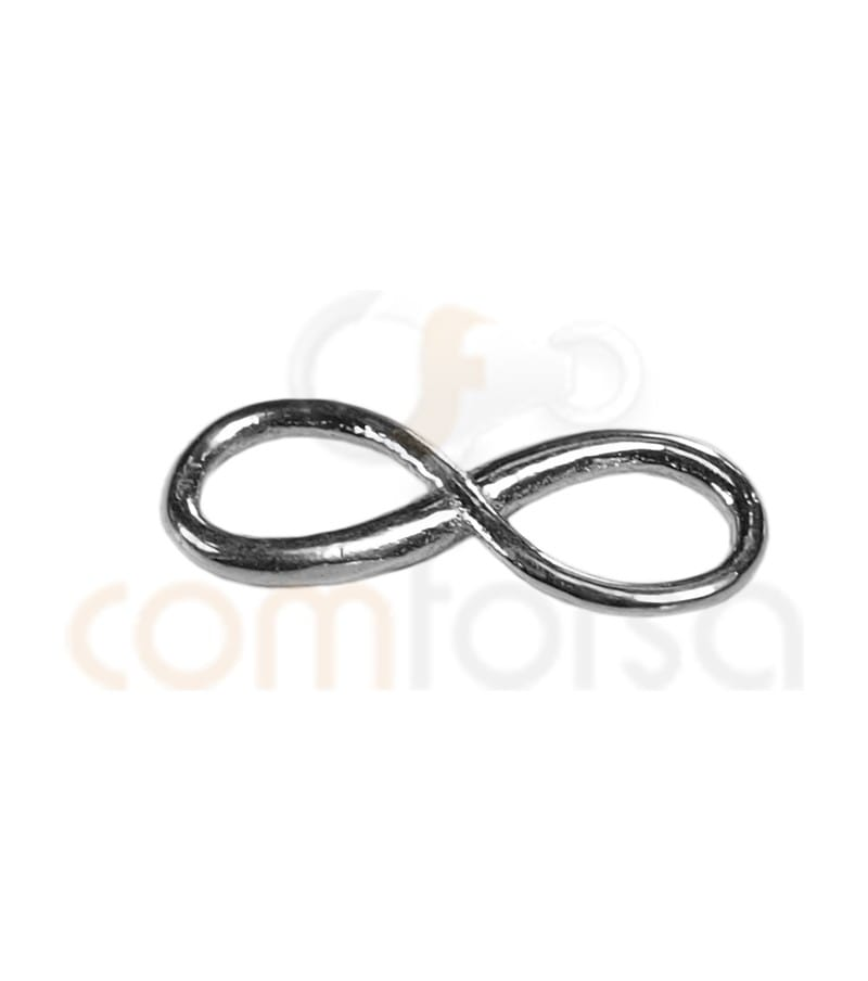 Sterling Silver 925 Infinity Bead 12x4.3mm