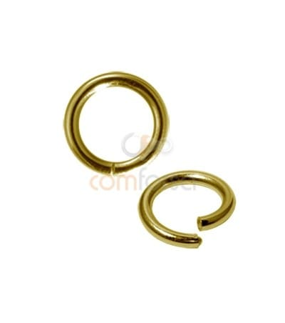 Rose Gold-plated silver Magic ring 2x10mm