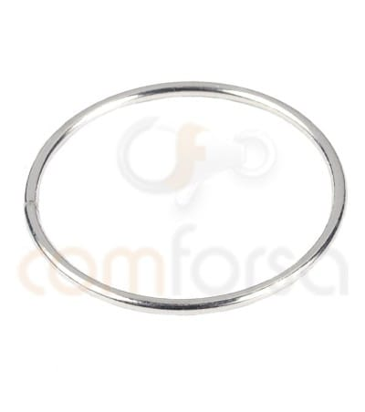 Gold Plated Sterling Silver 925 Round spacer ring 20 mm