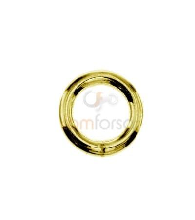 Anilla soldada 7 mm ext (1.3) plata chapada oro rosa