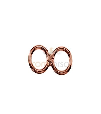Sterling silver 925 Double closed jumpring 6 mm