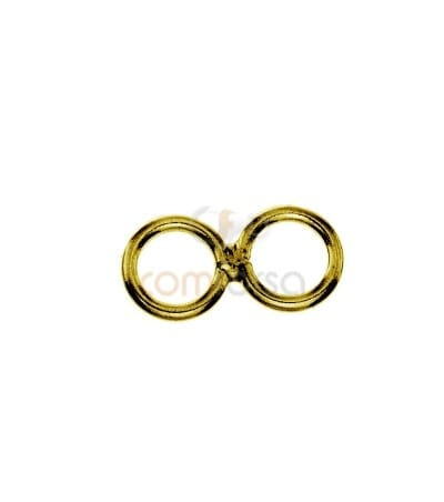 Sterling silver 925 Double closed jumpring 5 mm