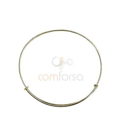Sterling Silver 925 Thread Hippy Bracelet 24cm