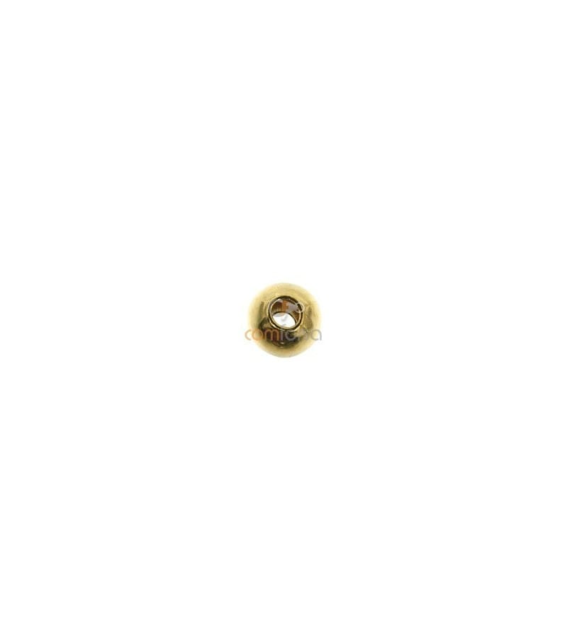 Bola lisa 2.5 mm ( 0.9 mm interior ) gold filled