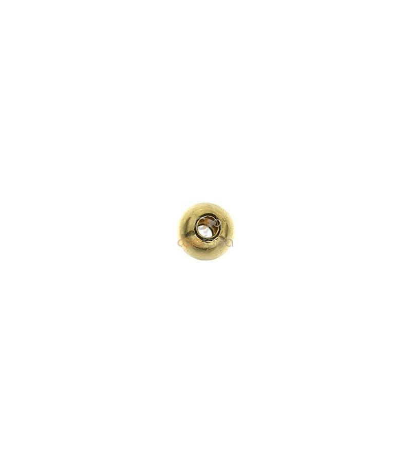 Bola lisa 3 mm (0.9mm interior ) gold filled