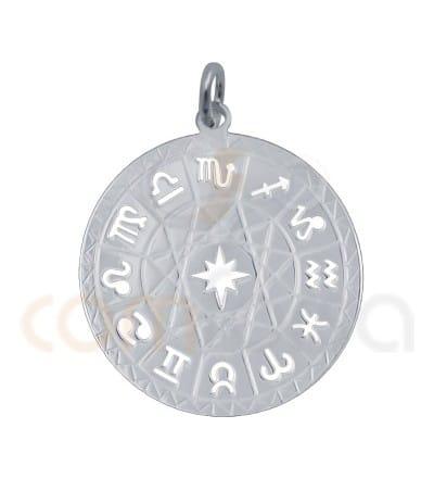 Colgante horóscopo calado 25 mm plata 925