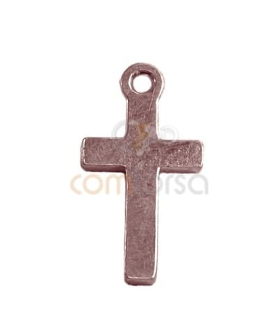 Sterling Silver 925 gold-plated Cross pendant 7x14mm