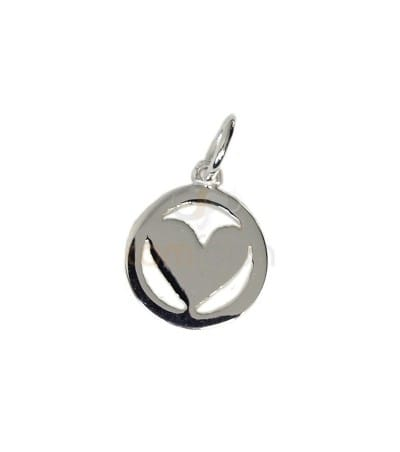 Gold plated sterling silver 925 heart charm 10 mm