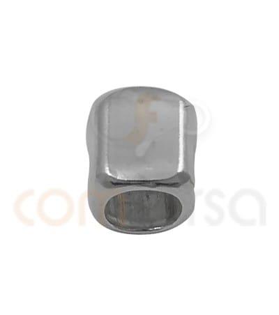 Entrepieza cubo irregular 3 x 3mm plata 925ml