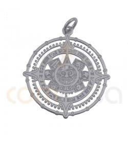 Colgante calendario maya 22mm plata 925