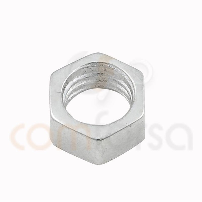 Nut connector stelring silver 5 mm (3,6 int) sterling silver 925