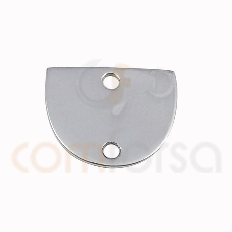 Medium circle connector 12x 10 mm sterling silver 925