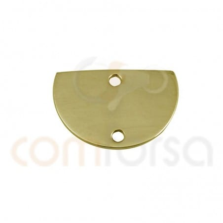 Medium circle connector 15 x 10 mm sterling silver gold plated