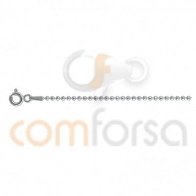 Sterling silver 925 faceted beaded balls chain 1,5 mm 45cm