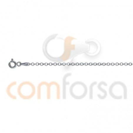 Sterling silver 925 faceted belcher chain 45cm