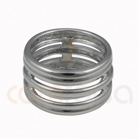 Wide ring with five alliances sterling silver 925