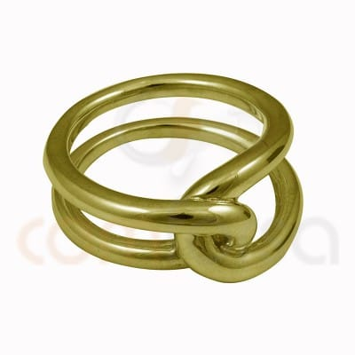 Double knot thread ring  sterling silver 925