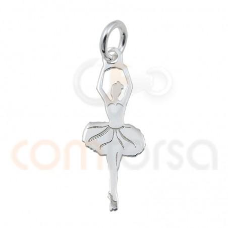colgante bailarina 7 x 20 mm plata 925