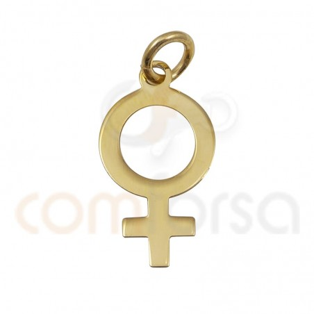Woman symbol pendant 9x7mm  stelring silver  gold plated