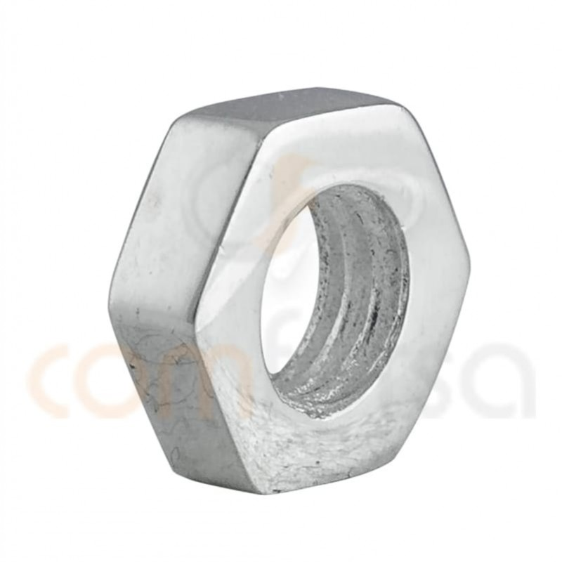 Sterling silver nut  connector 10mm (4.7mm int) sterling silver 925