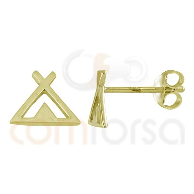 Tipi earrings 8mm sterling silver 925