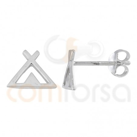 Tipi earrings 8mm sterling silver gold plated