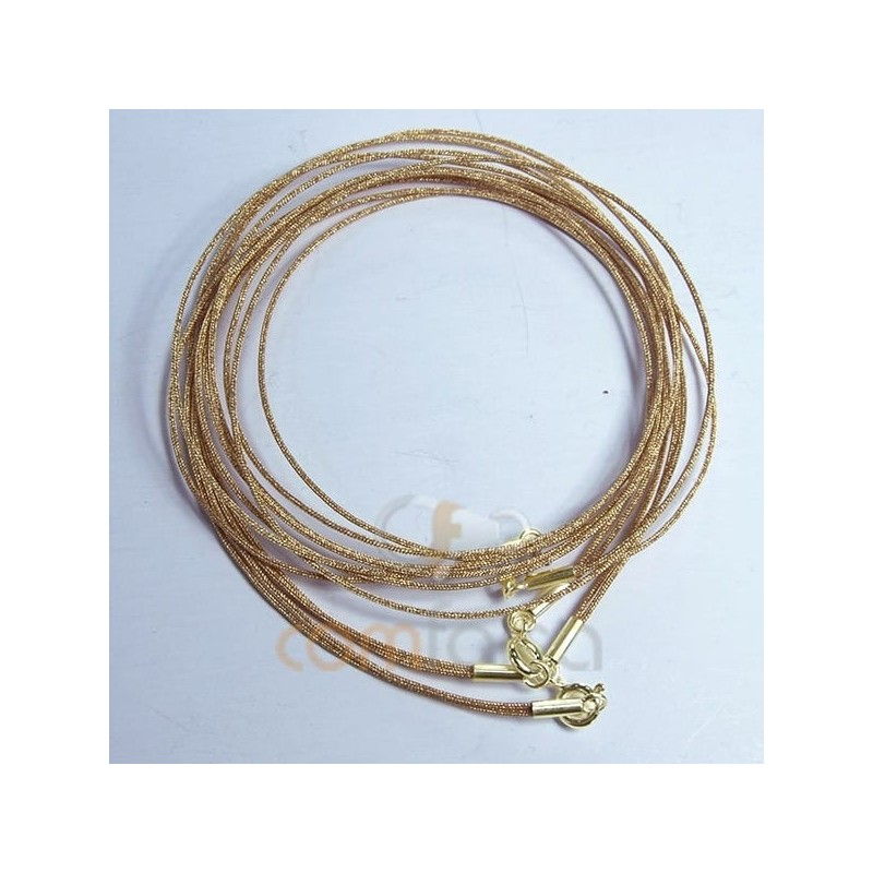 Golden japanese double silk choker 40 cm