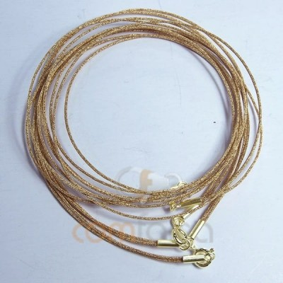 Golden japanese double silk choker  45 cm