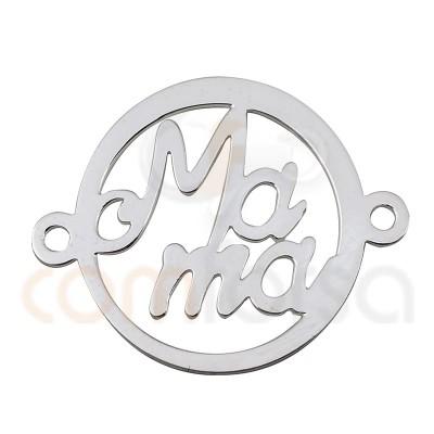 Colgante Te quiero mama 20 mm plata 925
