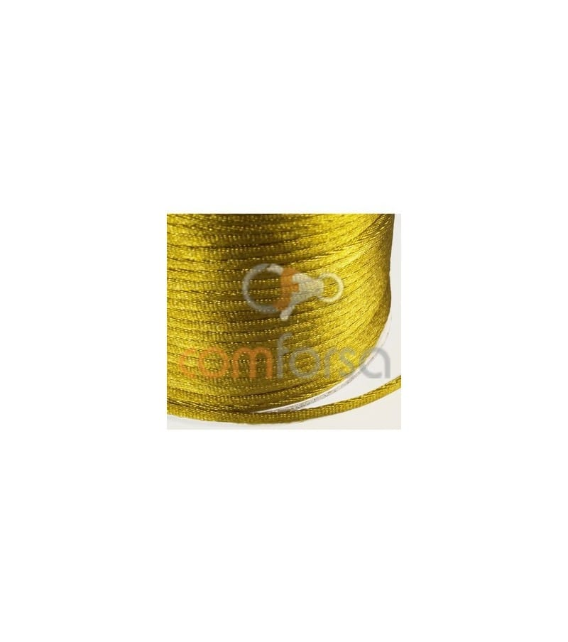 Gold colored satin cord  2mm