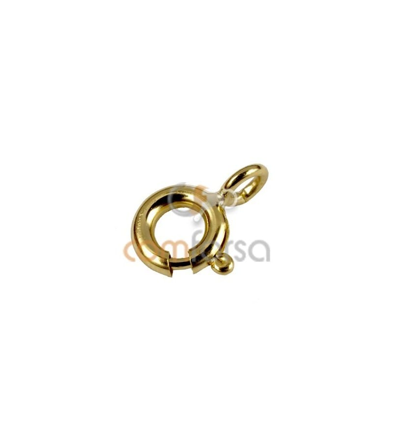 9kt Yellow gold bolt ring extra weight 6 mm