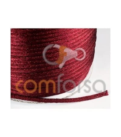 Deep red satin cord 2mm