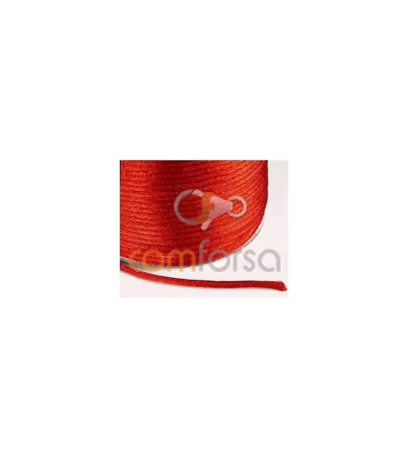 Red satin cord 2mm