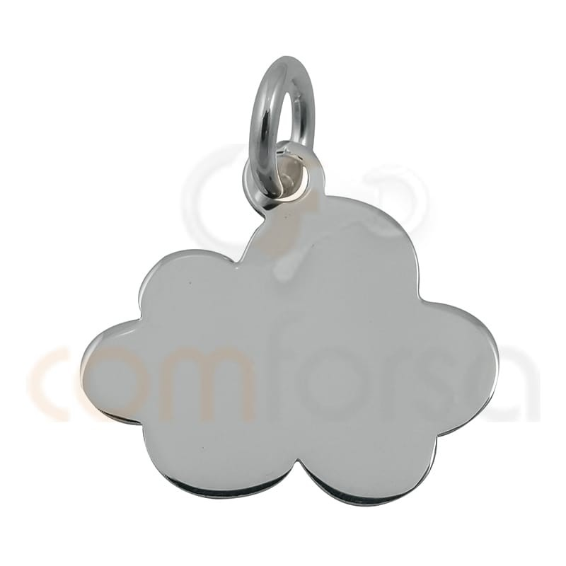 colgante chapa nube 14 mm plata 925
